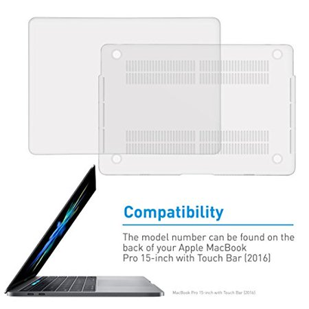 """Macally Protective Case for 15"""" MacBook Pro with Touch Bar (2016) - Clear - image 1 of 4"""