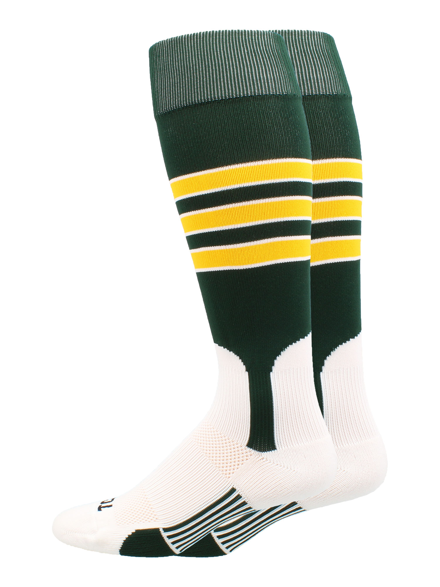 Baseball Stirrup Socks 3 Stripe (Royal/Orange/White, Large) - Royal/Orange/White,Large