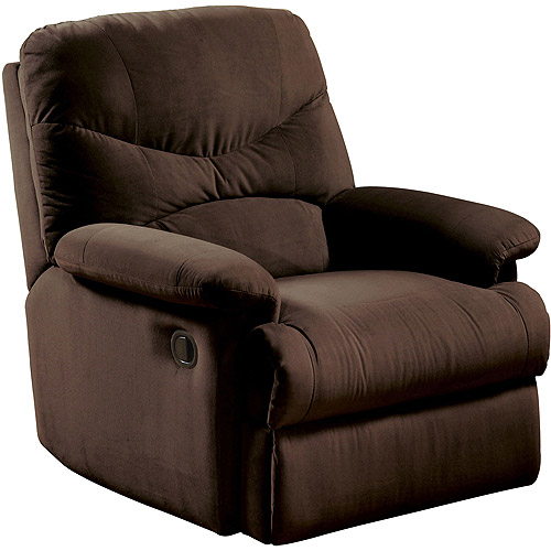 Oakwood Microfiber Recliner, Multiple Colors