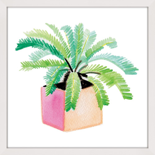 """Marmont Hill """"Potted Plant"""" by Molly Rosner Framed Painting Print"""