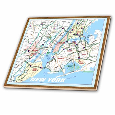 3dRose Framed NYC Boroughs - Ceramic Tile, 4-inch ()