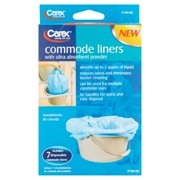 Carex Commode Liners, Disposable, With Absorbent Powder, 7 Count