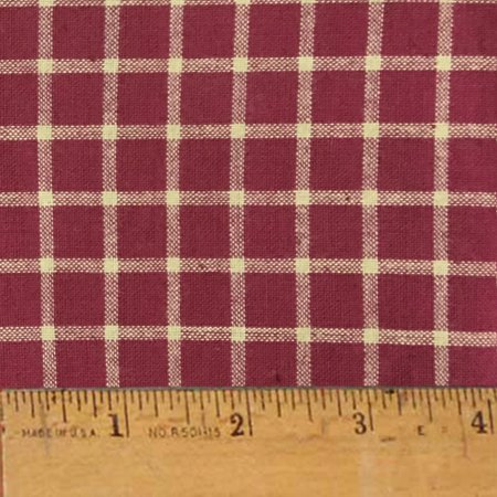 Rustic Red 7 Plaid Homespun Cotton Fabric Sold by the Yard - JCS Fabric ()