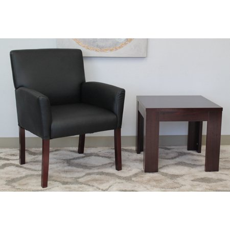 Boss Office Products Black Reception Box Arm Chair