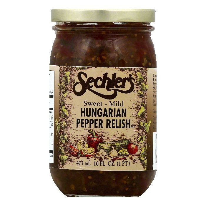 Sechlers Sweet-Mild Hungarian Pepper Relish, 16 OZ (Pack of 6)