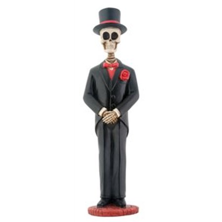 Large Skeleton Groom in Tuxedo Day of the Dead Dia De Los Muertos Figurine
