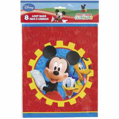 Mickey Mouse Clubhouse Plastic Loot Bags [8 per Package]](Mickey Mouse Loot Bags)