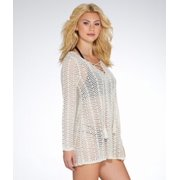 ccdca8d37c Elan - Elan Crochet Hooded Cover-Up - Walmart.com