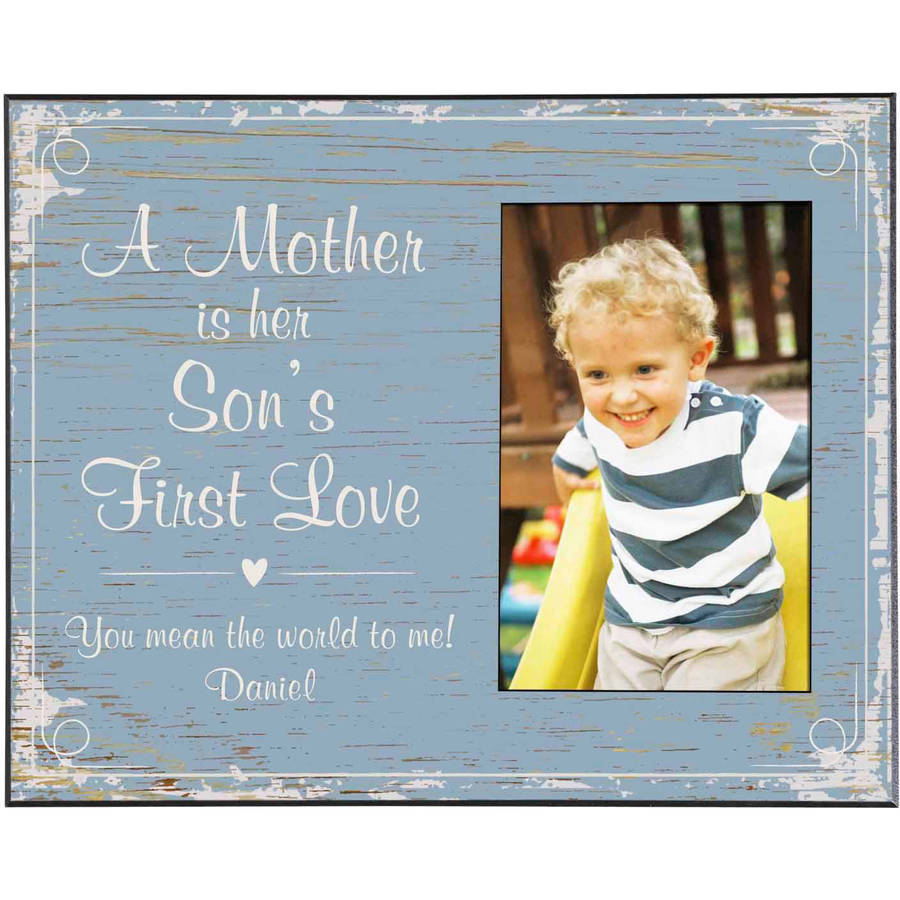 Personalized First Memories Photo Frame, Son, Available in 5 Colors