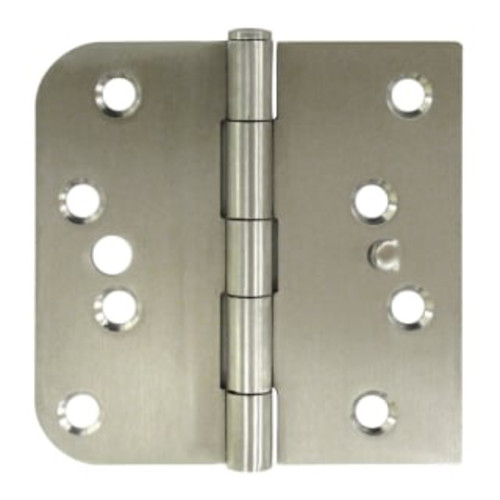 "Deltana SS44058TA-LH 4"" x 4"" Stainless Steel Square Corner Plain Bearing Mortise Hinge - Pair"