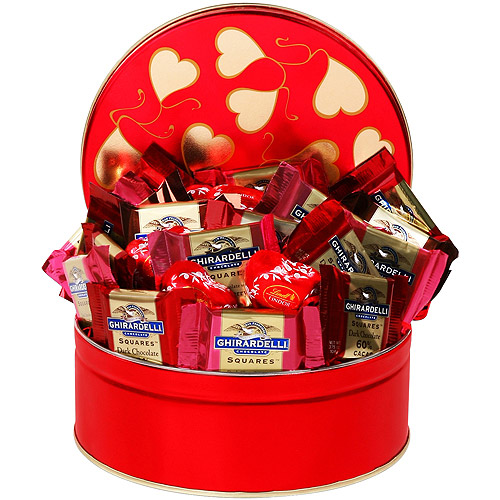 Ghirardelli Chocolate Squares Valentine Tin, 24 pc