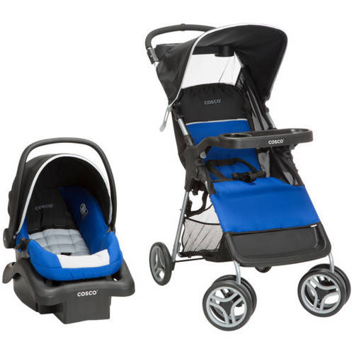 Cosco Lift and Stroll Travel System, Colorblock Surf the Web Blue