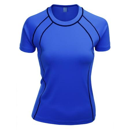- FashionOutfit Women's Aero Cool Single Span Round Neck Short Sleeve T Shirt
