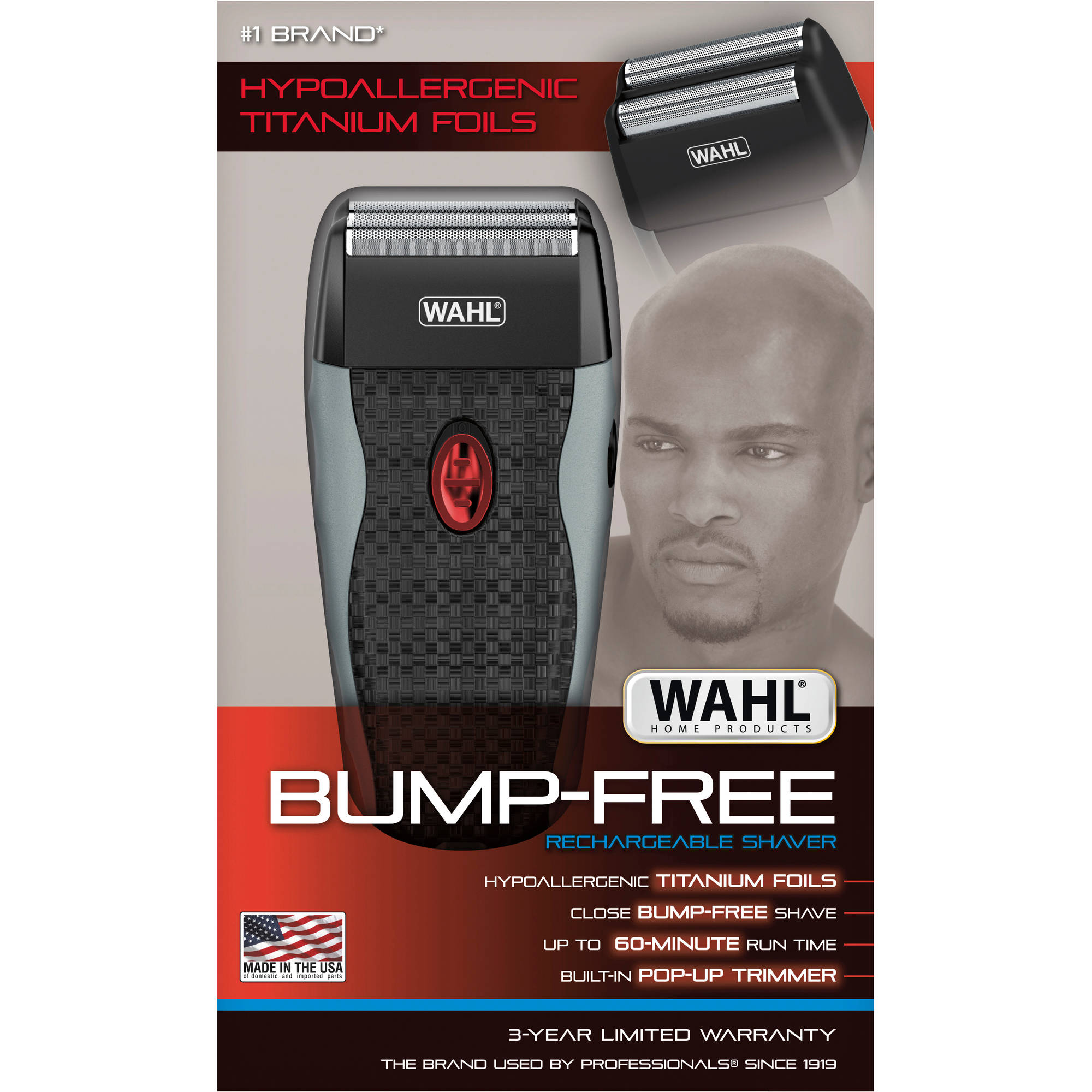 Wahl Home Products Bump-Free Rechargeable Shaver