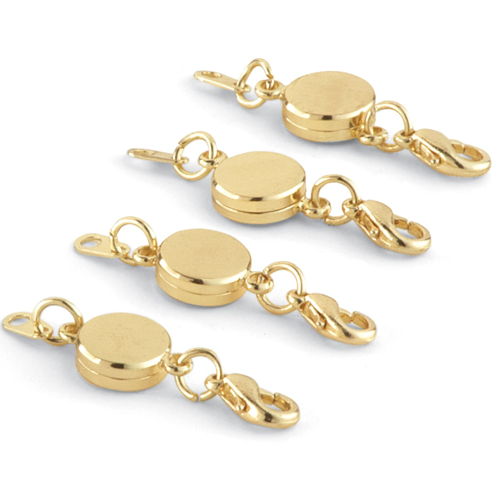 Easy On Off Magnetic Jewelry Clasps - Set Of 4, Gold
