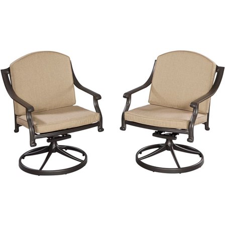 home styles covington cushioned swivel chair chocolate