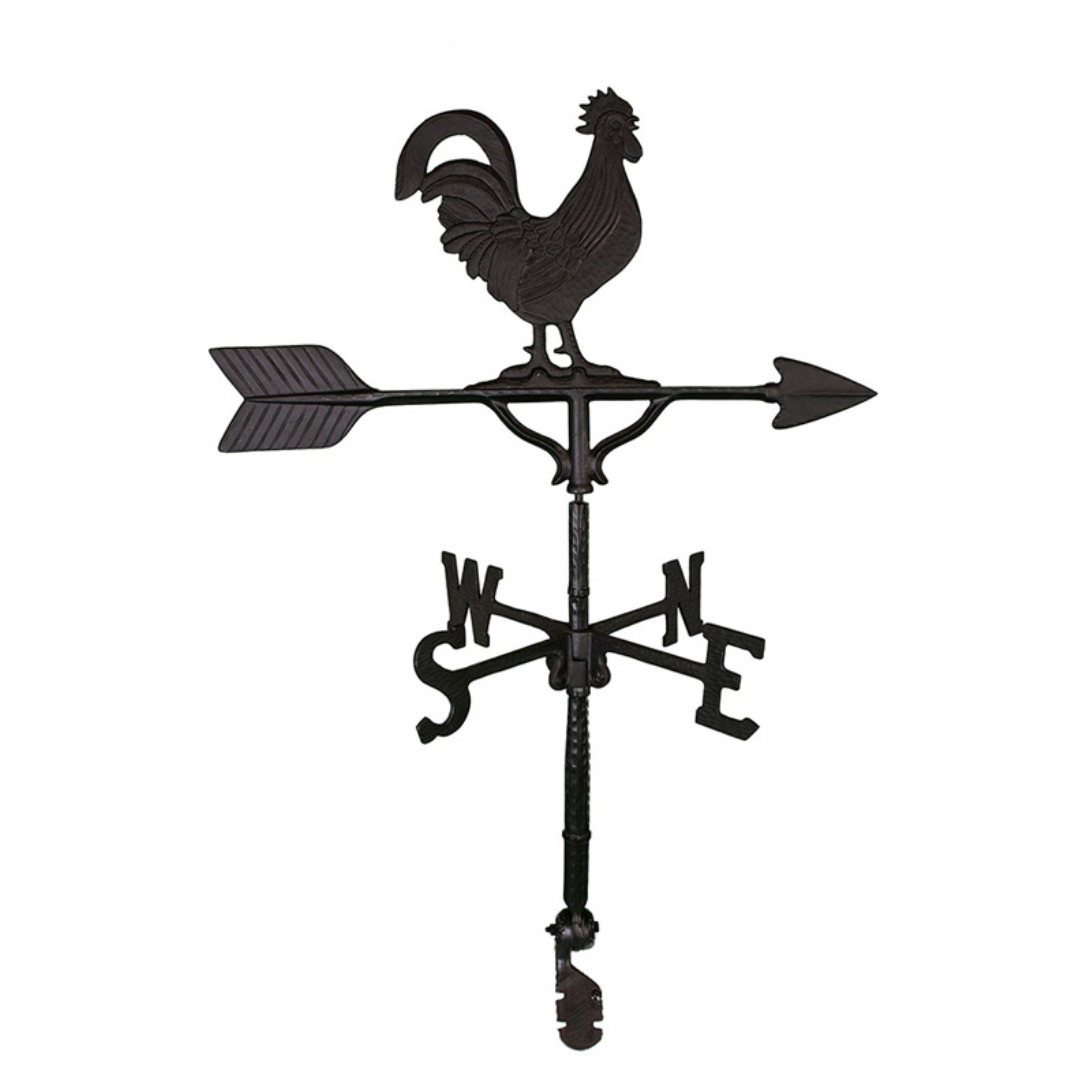 Black Rooster Weathervane 32 in. by Montague Metal Products