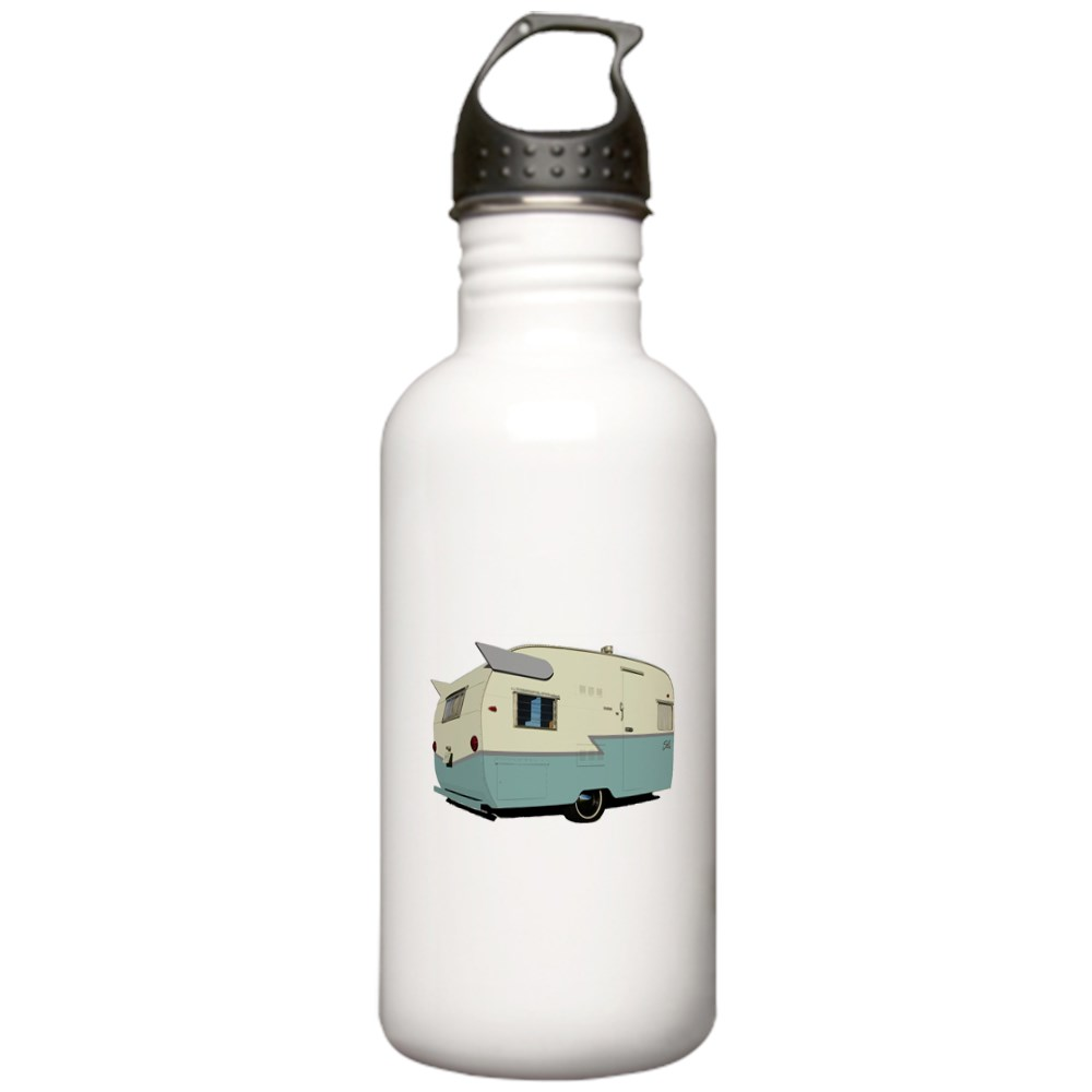 CafePress - Vintage Shasta Stainless Water Bottle 1 - Stainless Steel Water Bottle, Sports Bottle, 1.0L