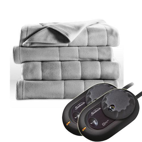 Sunbeam Electric Heated Fleece Blanket Royal Dreams - Twin Full Queen King