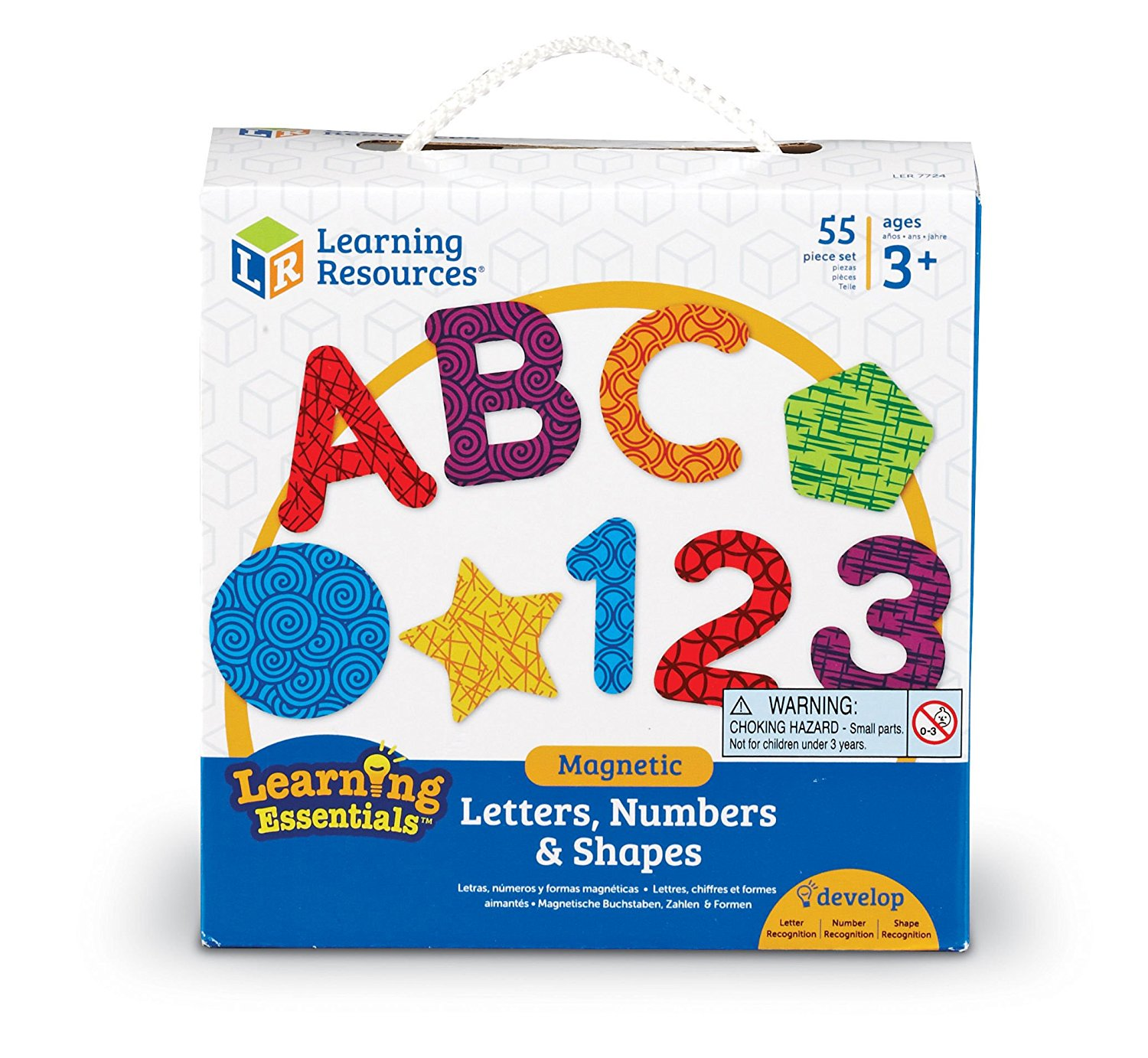 Learning Resources Magnetic Numbers Letters/Shapes Set
