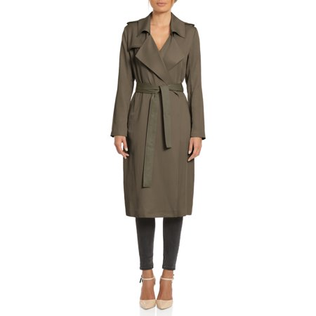 Badgley Mischka Angelina Tencel Trench Coat