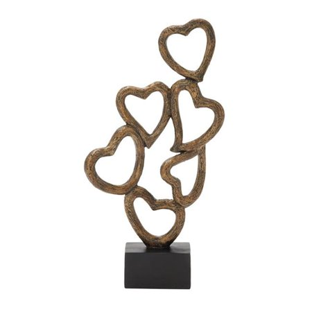 Benzara 58319 Astonishing Polystyrene Heart Table Decor - 17 in. H - Heart Decor