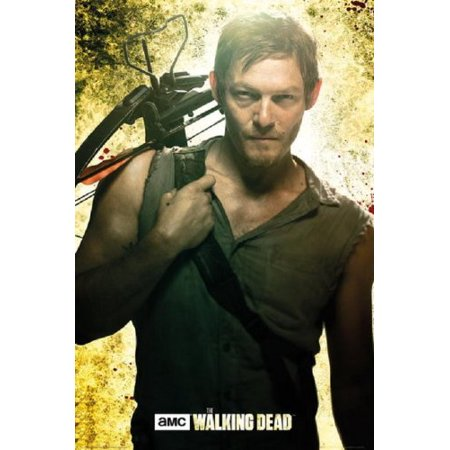 The Walking Dead Daryl Dixon Poster Norman Reedus 36x24 Twd Official