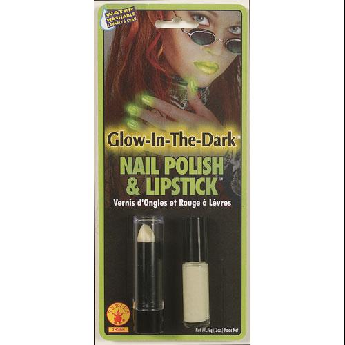 Glow in the Dark Lipstick and Nail Polish Halloween