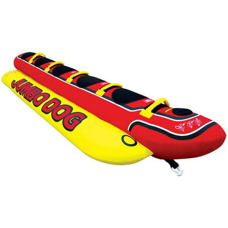 AIRHEAD HD-5 Jumbo Hot Dog 5 Person Rider Inflatable Towable Lake Boat Tube - Jumbo Dog Towable