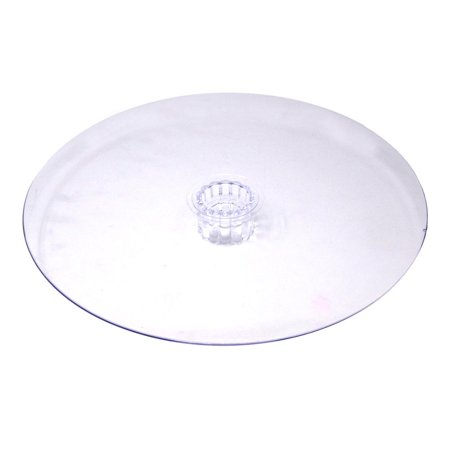 Round Acrylic Plate Cake Stand, Clear, 14-Inch