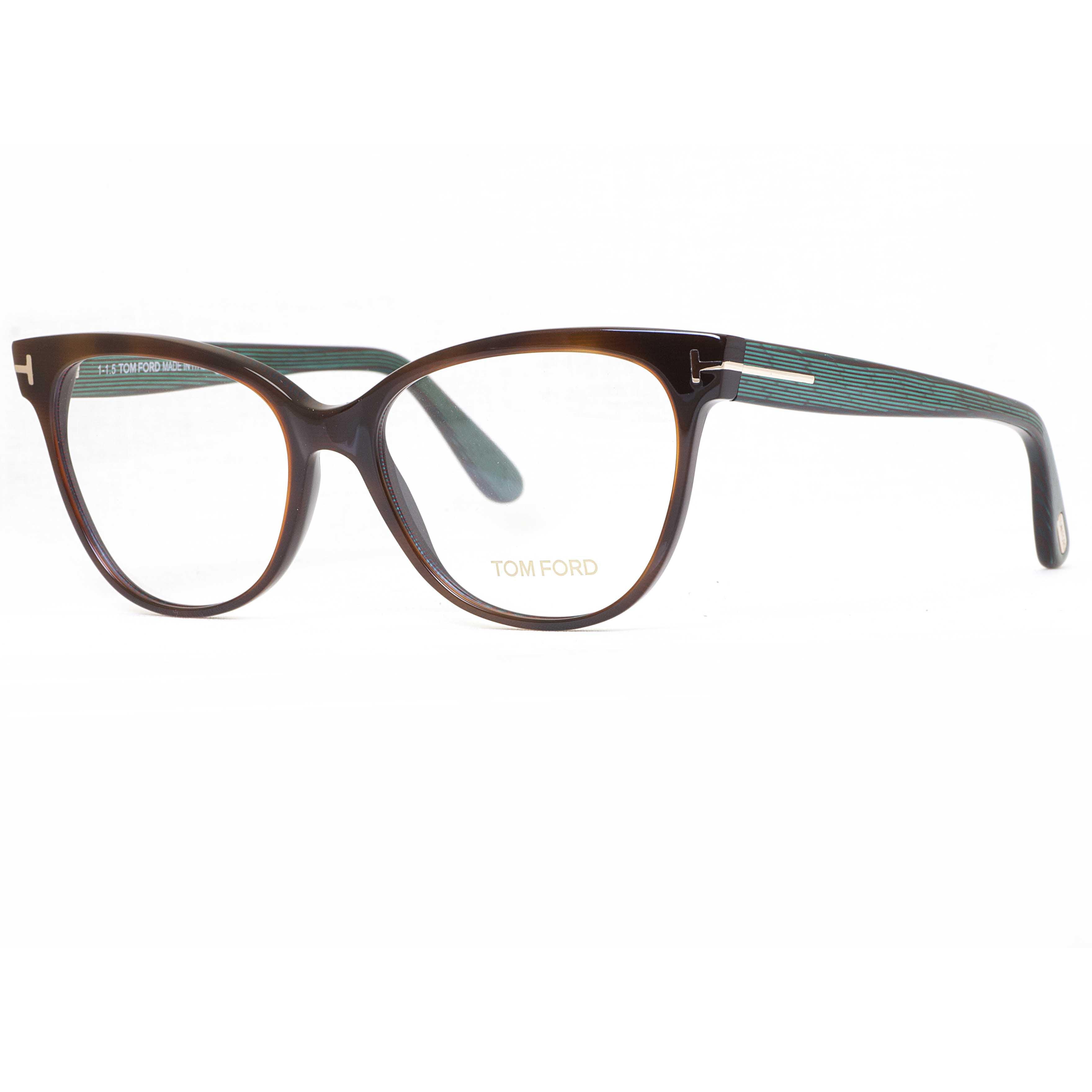 tom ford tf5291 052 55mm brown green stripes cat