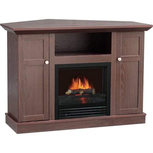 """Quality Craft Electric Media Fireplace, for TVs up to 42"""", Dark Chocolate"""