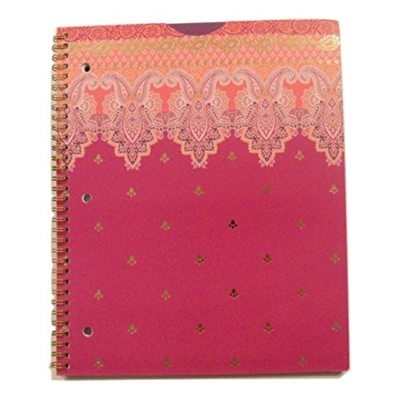 Carolina Pad Studio C College Ruled Poly Foil Cover Spiral Notebook ~ Taj Mahal (Violet, Pink and More; 80 Sheets, 160 Pages)