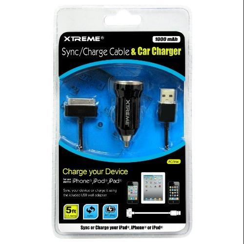Xtreme 88923 Cable5'sync /charge W/ Car Charger