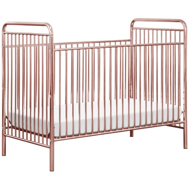 Babyletto Jubilee 3 in 1 Convertible Crib in Pink Chrome