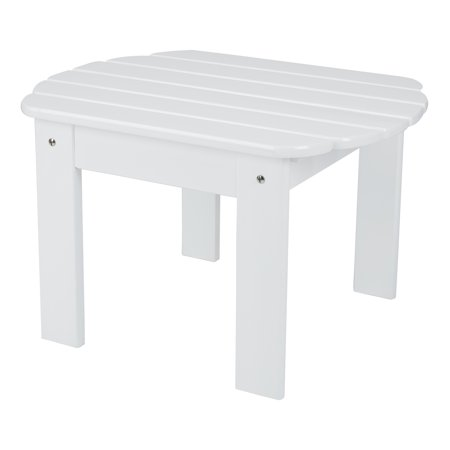 - Mainstays Wood Adirondack Outdoor Side Table, Multiple Colors