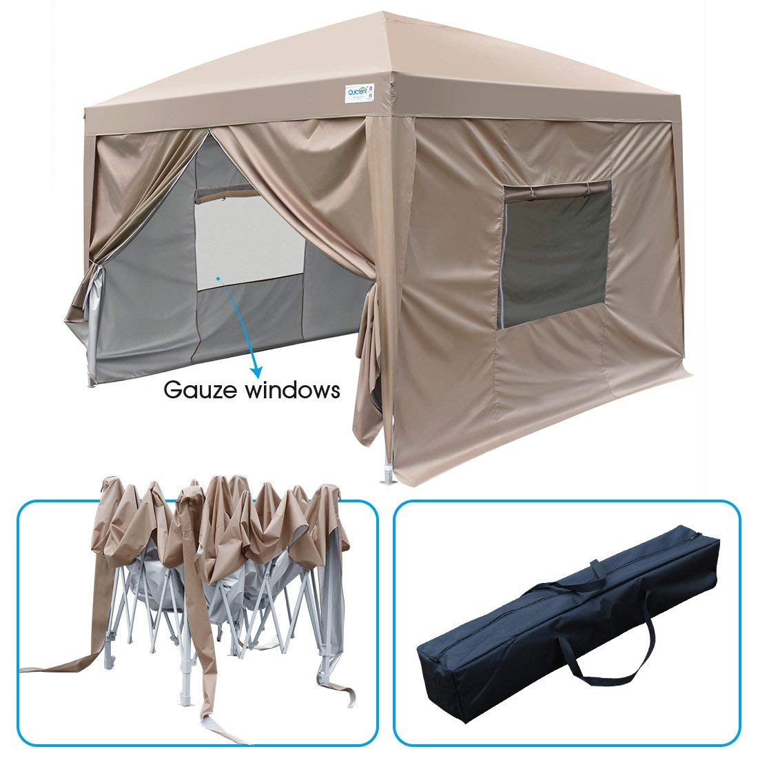 Upgraded Privacy 10x10 Ez Pop Up Canopy Tent Instant