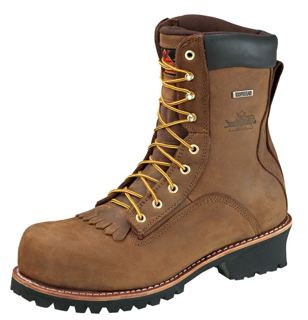 Thorogood Work Boots Men Waterproof Composite Toe Brown Trail 804-3556