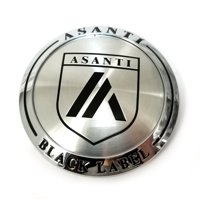 "Asanti Black Label Chrome 3-1/8"" Snap-In Wheel Center Hub Cap"
