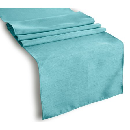 Aiking Home (Pack of 1) Solid Faux Silk Table Runner, Aqua-Size 13''x72''- Ideal for Wedding, Baby Shower, Party Decor, Thanksgiving, Christmas or Special - Wedding Table Decor