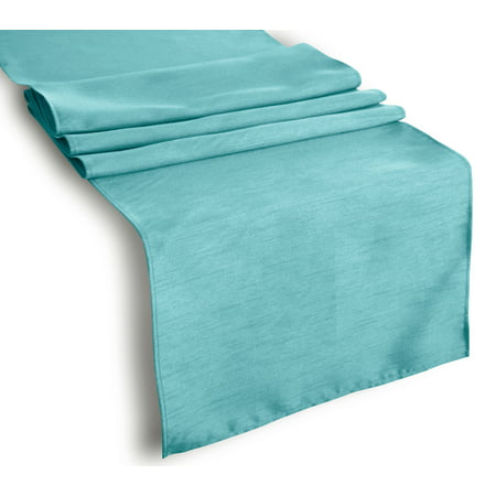Aiking Home (Pack of 1) Solid Faux Silk Table Runner, Aqua-Size 13''x72''- Ideal for Wedding, Baby Shower, Party Decor, Thanksgiving, Christmas or Special Event.](Red Christmas Table Runner)