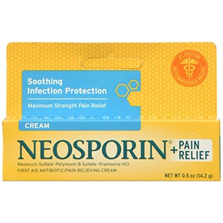 2 Pack Neosporin Maximum Strength Antibiotic + Pain Relief Cream 0.5oz (Maximum Strength Antibiotic)