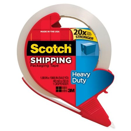 Scotch 3850 Rd 1 88  X 163 8  Clear Shipping Packaging Tape With Dispenser