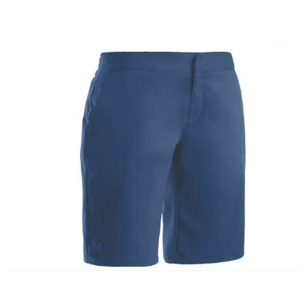 Under Armour Women's Major Woven Shorts-Cadet Blue-4