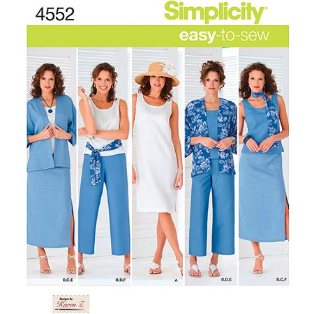 Simplicity Misses' & Women's Size 10-18 Dress & Top Pattern, 1 Each ()