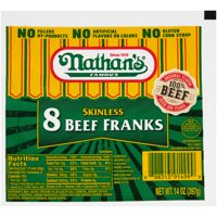 Nathan's Famous Skinless Beef Franks, 14 oz
