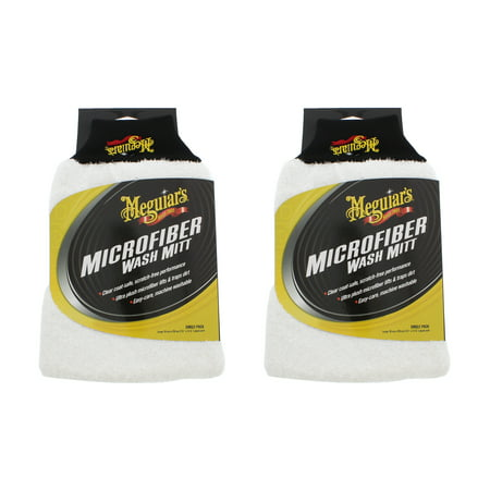 - Meguiar's X3002 Microfiber Wash Mitt (2 Pack)