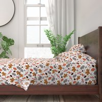 Autumn Leaves Fall Seasonal Maple 100% Cotton Sateen Sheet Set by Roostery