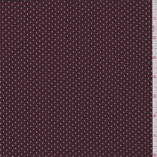 Maroon Athletic Mesh, Fabric By the Yard