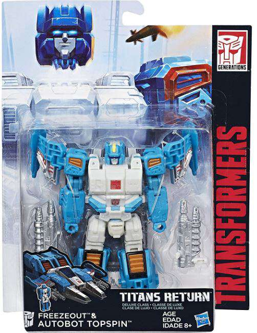 Transformers Generations Titans Return Deluxe Autobot Topspin and Freezeout by TRANSFORMERS